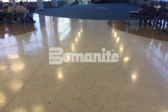 Featured here is Bomanite Modena Monolithic decorative concrete that was poured in place with a free-flowing design to create a natural look and a lustrous finish that is durable and easy to maintain.