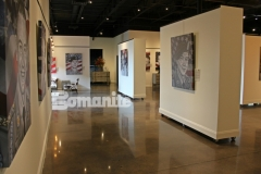 This stunning, custom polished concrete was created using the Bomanite Patene Teres Custom Polishing System and the luminous effect on the flooring surface adds beautiful depth and warmth to this gallery space.