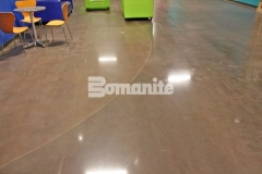 The Bomanite Patene Teres Custom Polishing System was used here to create a decorative concrete flooring surface that is extremely durable and will hold up to heavy foot traffic while adding warmth and character to this church space.