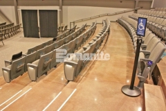 Our associate, Texas Bomanite, used Bomanite Patene Teres and Bomanite Patene Artectura to create custom polished and dyed concrete flooring in the lobbies, stairs, hallways, auditorium, and sanctuaries at Hope Fellowship Church and the finished product adds a warm, earthy, and inviting aesthetic.