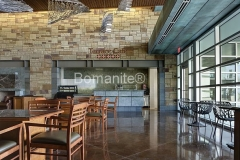 Bomanite Custom Concrete Polishing Systems with Renaissance Integrally Colored Concrete Floor.