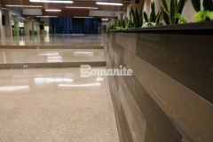 The Bomanite Renaissance Deep Grind System is becoming a standard in school construction and was installed here by our colleague Musselman & Hall Contractors to provide a sustainable, low maintenance topping and polishing option at Olathe West High School.