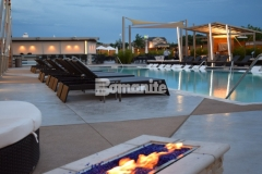 The 2017 Best Bomanite Exposed Aggregate Project Bronze Award was presented to our associate, Bomanite of Tulsa, Inc., for their skillful installation of this Bomanite Alloy decorative concrete pool decking at the Hard Rock Hotel & Casino, providing a durable hardscape surface that fits in flawlessly with the sophisticated design aesthetic.