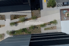 Our associate Bomel Construction Company earned the 2019 Gold Award for Best Bomanite Exposed Aggregate Project for their expert installation of Bomanite Revealed at the Flight at Tustin Legacy, providing a durable and sustainable hardscape surface that is beautifully distinct.