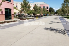 Valley Children's Hospital chose to install Bomanite Sandscape Texture to create a durable, decorative concrete hardscape surface that offers consistent texture and will accommodate vehicle and pedestrian traffic.