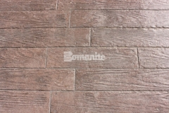 The Bomanite Bomacron Random Boardwalk pattern featured here was chosen to create a wood plank look by simulating wood grain texture and create a durable hardscape surface with unique design detail at the Tanger Outlets Fort Worth.