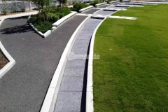 Our colleague Bomanite of Tulsa, Inc. installed Bomanite Imprint Systems at Owasso's Redbud Park to create a decorative concrete water feature and splash pad and their utilization of the Bomacron Chipped Shale pattern was perfect to mimic the look of riverbed rock and add distinctive detail to the hardscape.