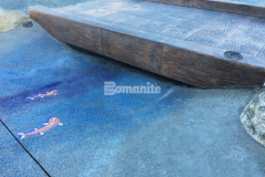 The attention to detail and expert installation of Bomanite Imprint Systems by our colleague Belarde Company resulted in this beautiful, Bomacron Boardwalk-patterned stamped concrete bridge that is the perfect addition to the newly designed Inspiration Playground at Downtown Bellevue Park.